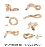 folded usb lightning golden... | Shutterstock . vector #472231930