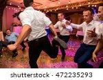 wedding party. groomsmen having ... | Shutterstock . vector #472235293