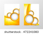 front and back dynamic wave... | Shutterstock .eps vector #472241083