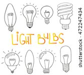 Light Bulbs Icon Set. Concept...