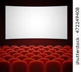cinema movie hall with white... | Shutterstock .eps vector #472249408