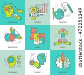 creative concept colored icons... | Shutterstock .eps vector #472251349