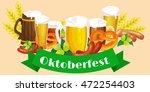 germany beer festival in... | Shutterstock .eps vector #472254403