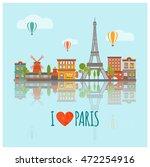 Colored Paris Skyline Poster...