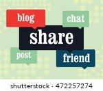 social media comment bubbles ...   Shutterstock .eps vector #472257274