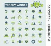 trophy winner icons | Shutterstock .eps vector #472262710
