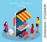 mobile shopping e commerce... | Shutterstock .eps vector #472263658