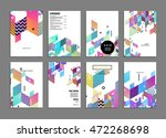 annual report brochure template ... | Shutterstock .eps vector #472268698