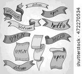 monochrome hand drawn set of... | Shutterstock .eps vector #472270534