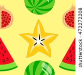 colorful fruits seamless... | Shutterstock .eps vector #472272208