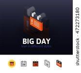 big day color icon  vector...