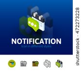 notification color icon  vector ...