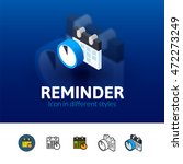reminder color icon  vector...
