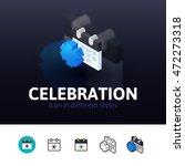 celebration color icon  vector...