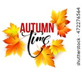 autumn time seasonal banner... | Shutterstock .eps vector #472276564