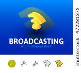 broadcasting color icon  vector ...