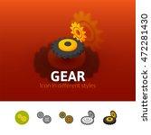 gear color icon  vector symbol...