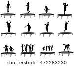 children silhouettes jumping on ... | Shutterstock .eps vector #472283230
