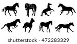 horse collection   vector... | Shutterstock .eps vector #472283329