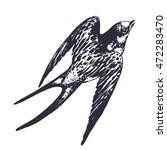vector hand drawn swallow bird...   Shutterstock .eps vector #472283470