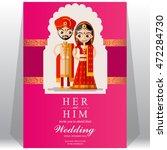 indian wedding invitation card.   Shutterstock .eps vector #472284730