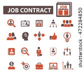 job contract icons | Shutterstock .eps vector #472284850