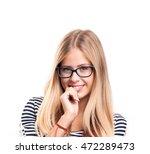 portrait of an attractive... | Shutterstock . vector #472289473