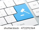 law concept  enter button with... | Shutterstock . vector #472291564
