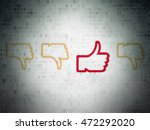 social media concept  row of... | Shutterstock . vector #472292020