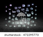 privacy concept  glowing family ... | Shutterstock . vector #472295773
