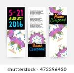 banners set  trendy geometric... | Shutterstock .eps vector #472296430