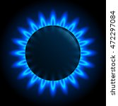 natural gas flame. burner gas... | Shutterstock .eps vector #472297084