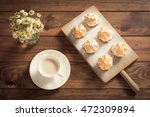 breakfast  white coffee and... | Shutterstock . vector #472309894