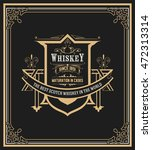 whiskey label with old frames.  | Shutterstock .eps vector #472313314