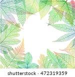 leaf abstract skeleton...   Shutterstock .eps vector #472319359