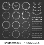 collection of hand drawn round... | Shutterstock .eps vector #472320616