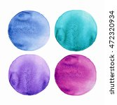 watercolor circles collection.... | Shutterstock .eps vector #472320934