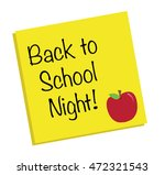 back to school night | Shutterstock .eps vector #472321543
