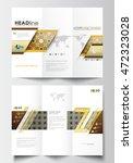 tri fold brochure business... | Shutterstock .eps vector #472323028