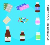 tablets pills capsules colored... | Shutterstock .eps vector #472323859