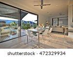 dinner on the wooden floor with ... | Shutterstock . vector #472329934