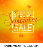 special september sale. blurred ... | Shutterstock .eps vector #472330684