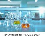 flask glassware in the science... | Shutterstock . vector #472331434