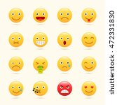 emoticons set  emoji icons ... | Shutterstock .eps vector #472331830