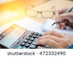 financial data analyzing hand...   Shutterstock . vector #472332490