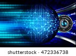 blue silver eye abstract cyber... | Shutterstock . vector #472336738