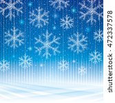 abstract snowflakes blue... | Shutterstock . vector #472337578