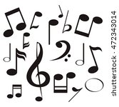 flat design music note icon... | Shutterstock .eps vector #472343014