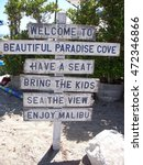 Beach Sign Welcoming Visitors...