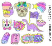 patch badges  pin badges or... | Shutterstock .eps vector #472347064